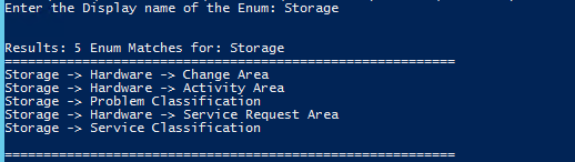 SCSM Enumeration Path via PowerShell