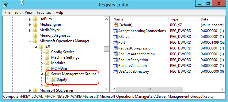 Get the SCSM Management Group name from the Registry