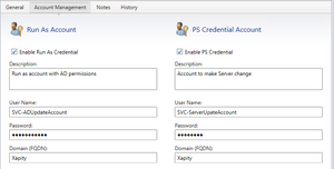 PS Credentials and Run As Accounts - Xapity PowerShell Activity for SCSM