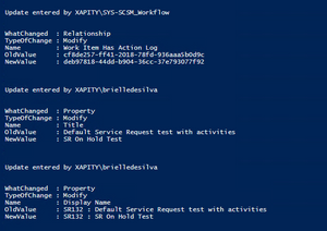 SCSM PowerShell Loop to get History Tab Values