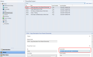 Using PowerShell in SCSM workflows - Get PowerShell script GUID