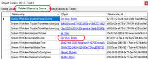 View Details - Related Objects in SCSM Entity Explorer