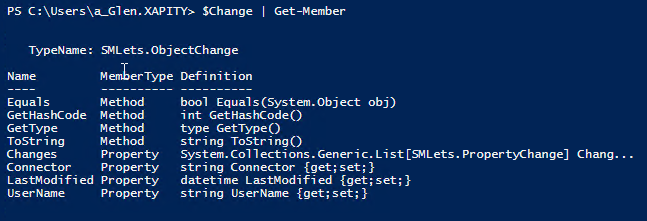 SCSM PowerShell History Properties