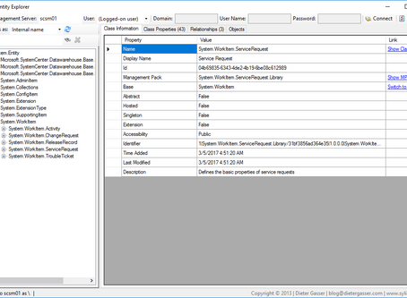 How to use SCSM Entity Explorer