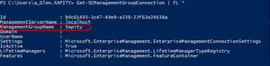 Get the SCSM Management Group name using PowerShell