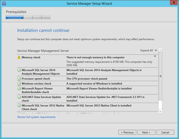 SCSM 2016 Install/Upgrade - Confirm prerequisites are installed