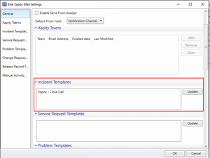 SCSM Image Templates - Xapity Mail Templates Settings