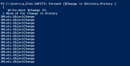 SCSM PowerShell History Tab Changes
