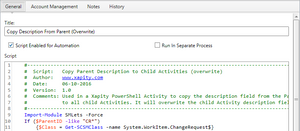 Run in a Separate Process - Xapity PowerShell Activity for SCSM