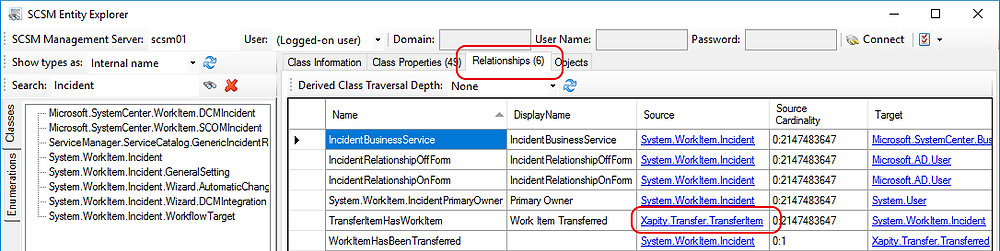 Relationships in SCSM Entity Explorer