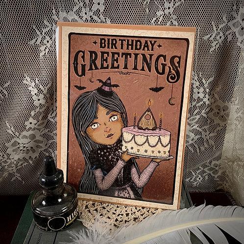 Birthday Greetings Card - I