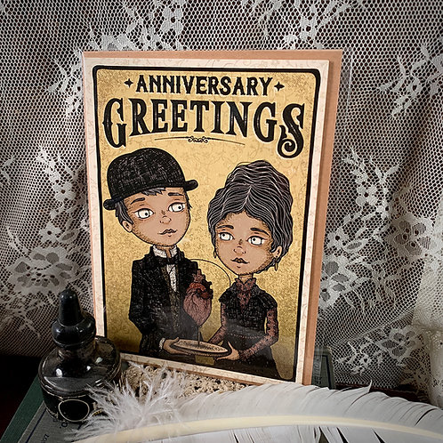 Anniversary Greetings Card - I
