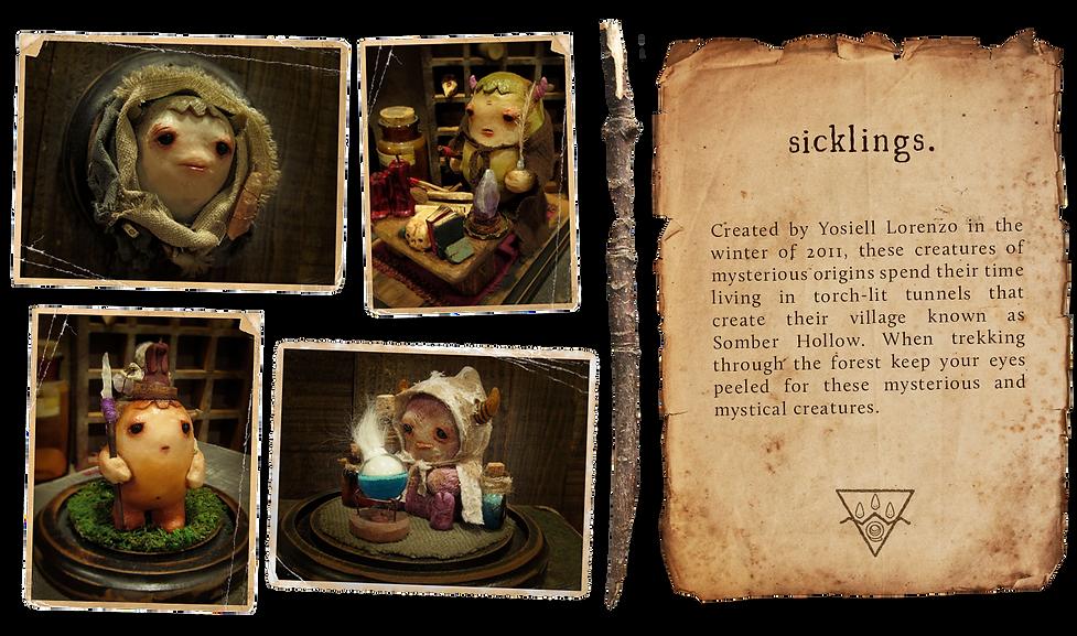 Resin Creatures named Sicklings