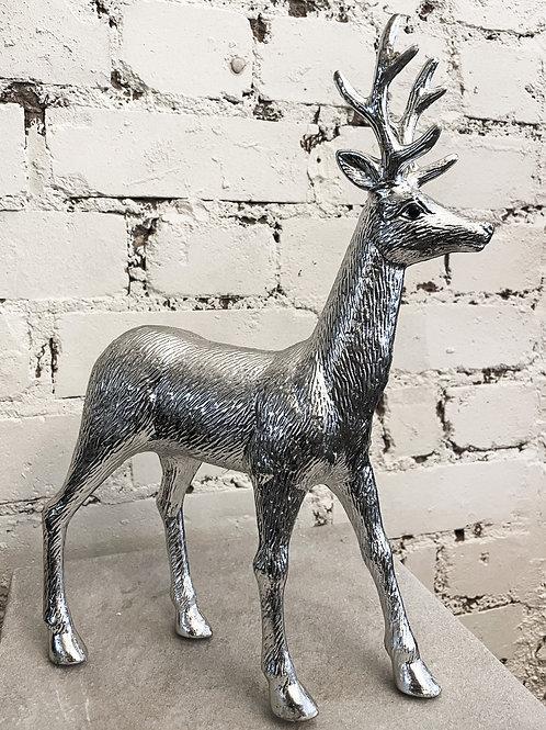 Antique Silver Metal Reindeer