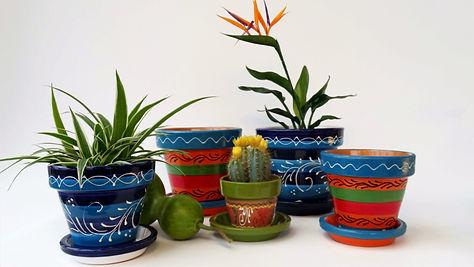 Spaans aardewerk bloempotten