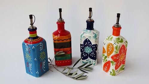 Olijfolie fles Spaans aardewerk