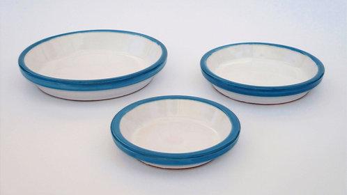 Onderschotel voor bloempotten blauw en wit