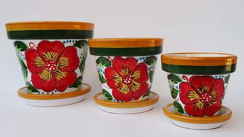 Beschilderde Spaanse bloempot