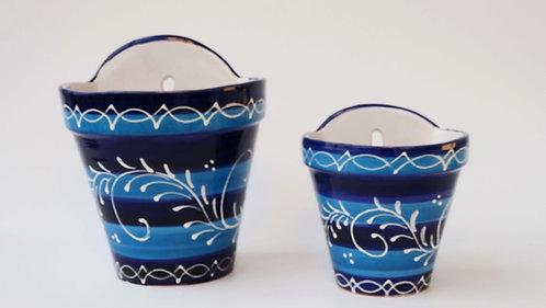 Hangende Spaanse bloempot blauw