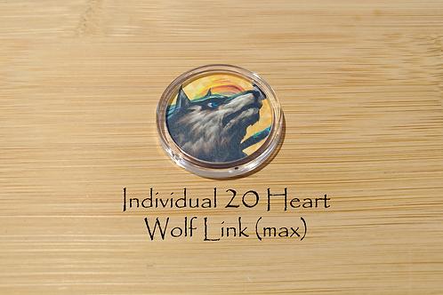 Individual 20 Heart Wolf Link Amiibo