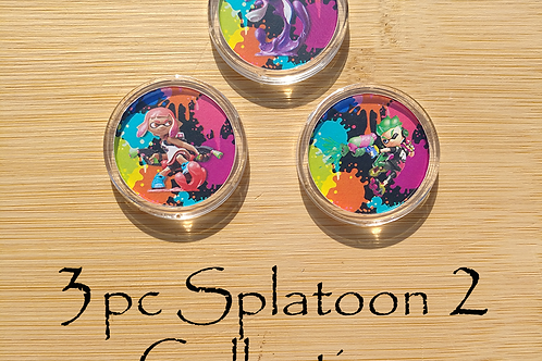 3pc Splatoon 2 Amiibo Collection