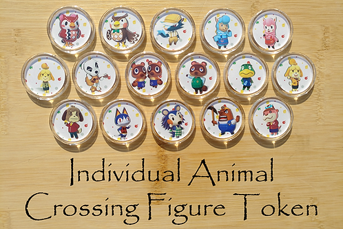 Individual Animal Crossing Amiibo Figure Token