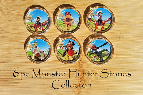 6pc Monster Hunter Stories Amiibo Collection
