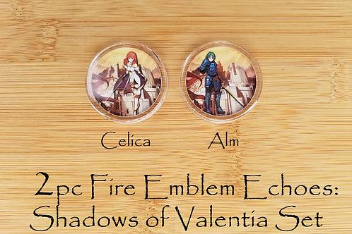 2pc Fire Emblem Amiibo Alm & Celica Set