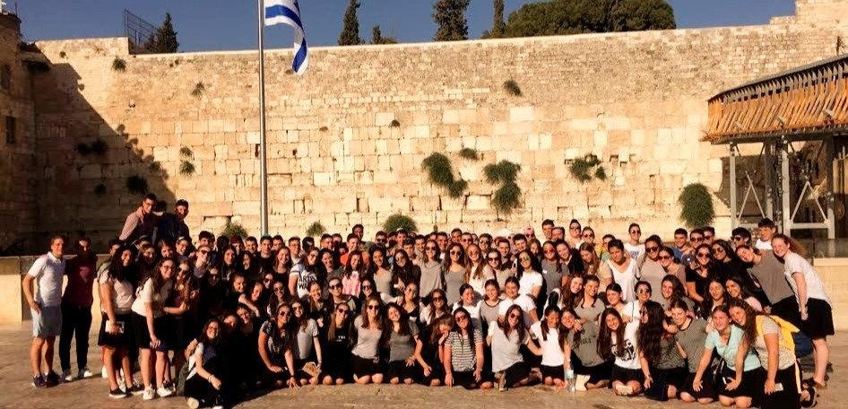 Group Picture of Kol Hanearim Volunteers at the Kotel