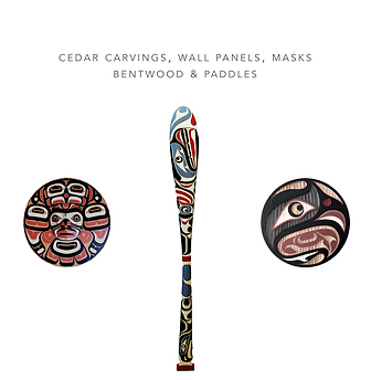 West Coast First Nations art, carvings, paddles, oars, panel non-profit, fundraising ideas