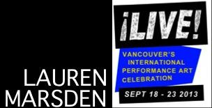 Lauren Marsden 2013 Live Biennale