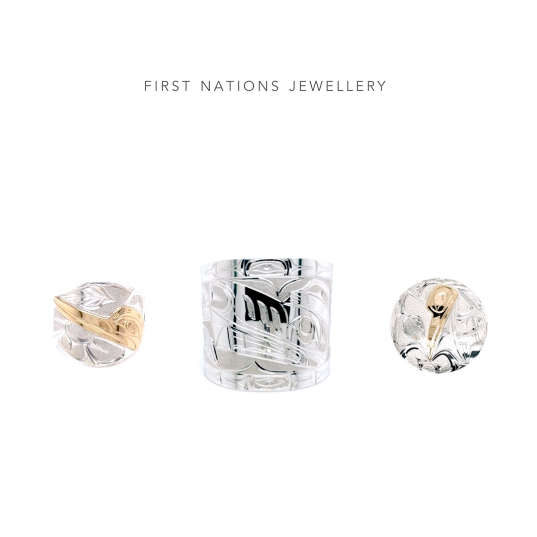 West Coast First Nations Silver and Gold Jewellery