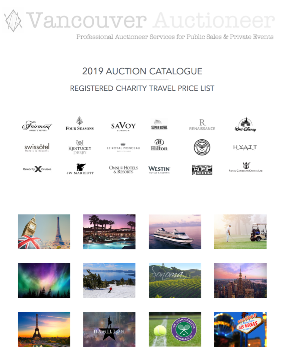 Luxury and Experiential Travel for non-profit fundraisers; Raffle, Silent & Live auction items