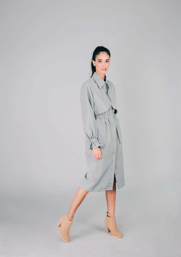 Gray Trench Protective Wear