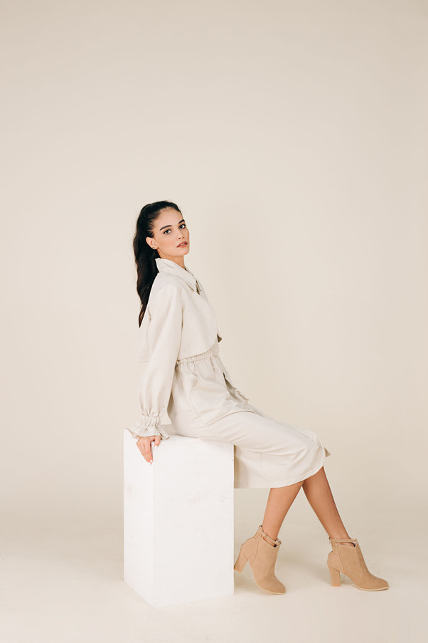 Beige Trench Protective Wear