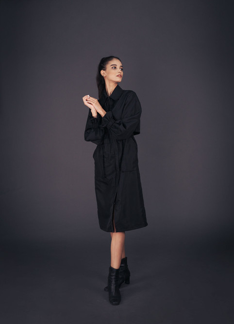 Black Trench Protective Wear