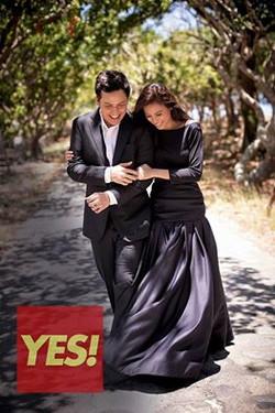 Toni Gonzaga in Black Silk Duchess dress ,Yes Magazine