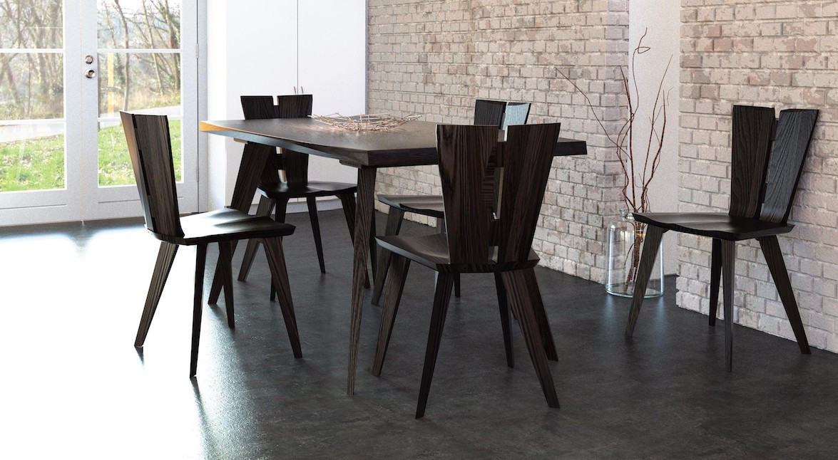 Axis Dining Table & Chairs from Copeland