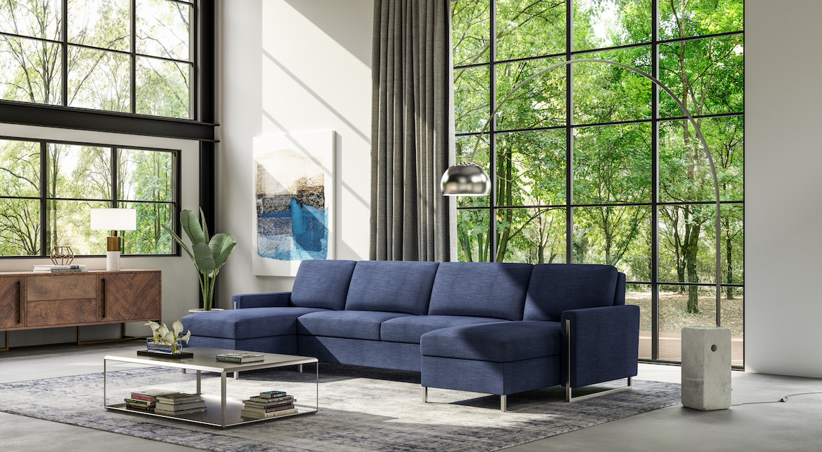 Sulley Comfort Sleeper Sectional from American Leather