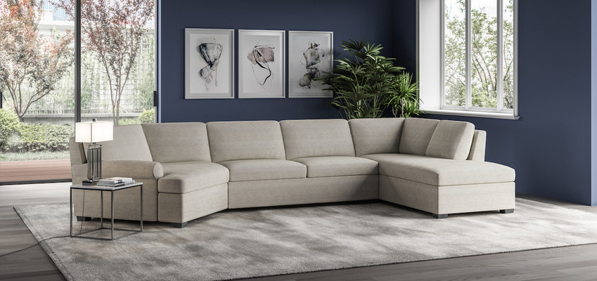 Gaines Comfort Sleeper Sectional from American Leather