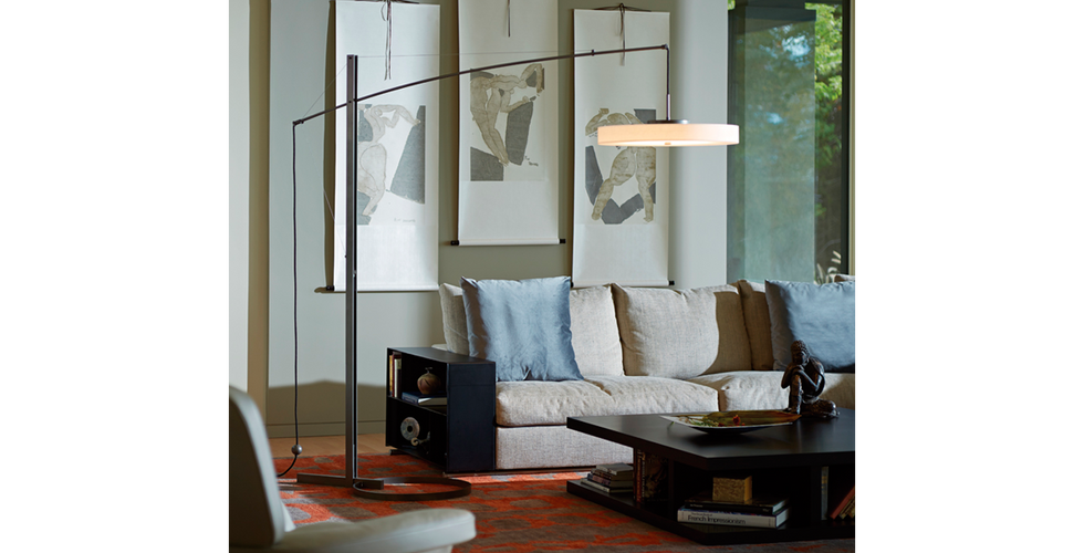 Disq Arc Lamp from Hubbardton Forge