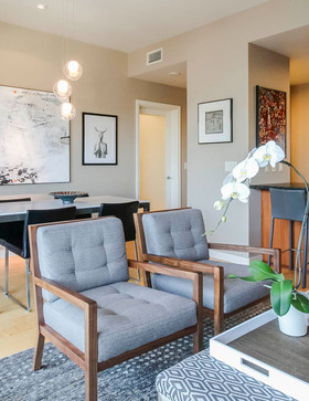 This compact, modern Pearl District dwelling is completely transformed by the updating of furnishings, art & accessories. We specialize in creating spaces that are not only beautiful, but functional; every item is purposeful.