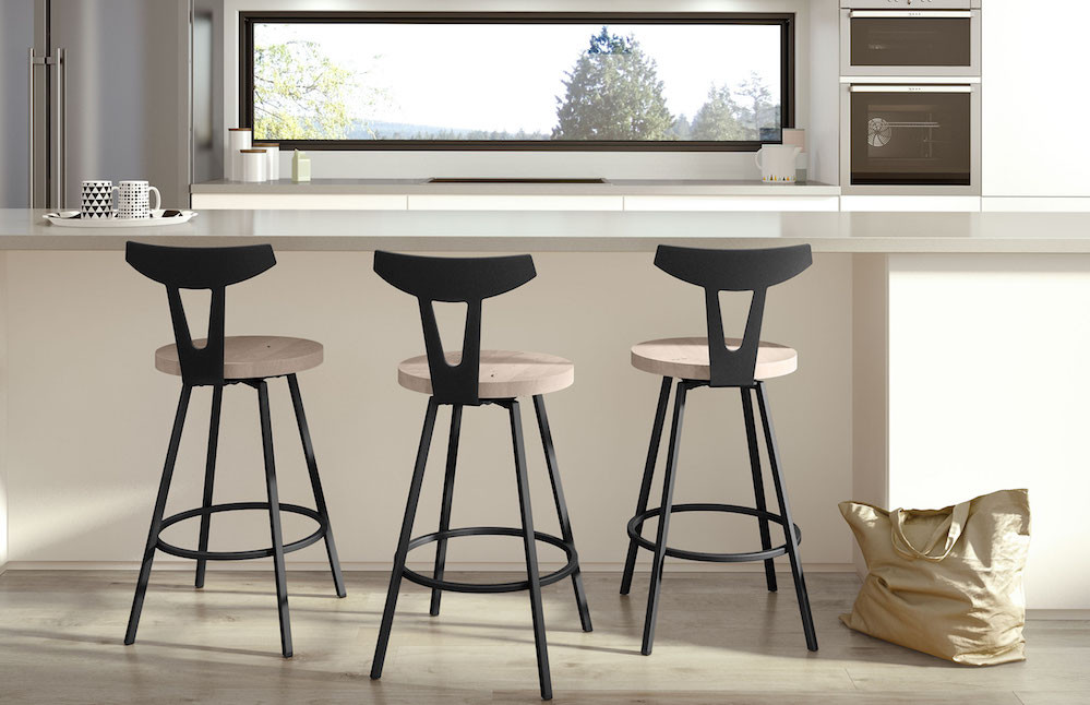 Hans Swivel Stools from Amisco
