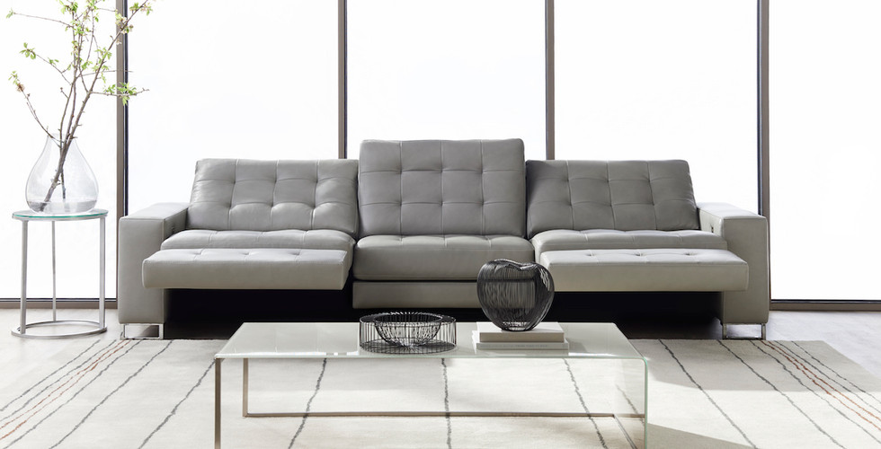 Hudson Reclining Sofa from American Leather