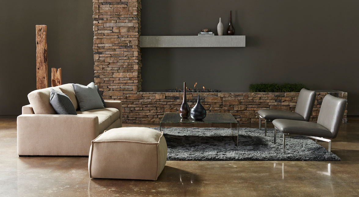 Westchester Sofa & Collins Ottoman from American Leather