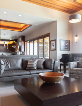 With earthy tones like Ochre, Rust, and Fossil, the rich color and texture palette of this stunning home is a perfect representation of using our beautiful Central Oregon landscape for interior design inspiration!