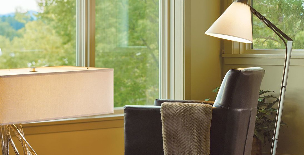 Reach Floor Lamp & Brindille Table Lamp from Hubbardton Forge