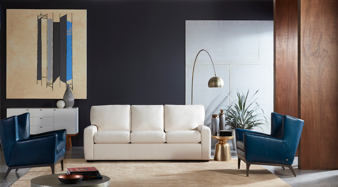 Cason Sofa & Cole Chair by American Leather