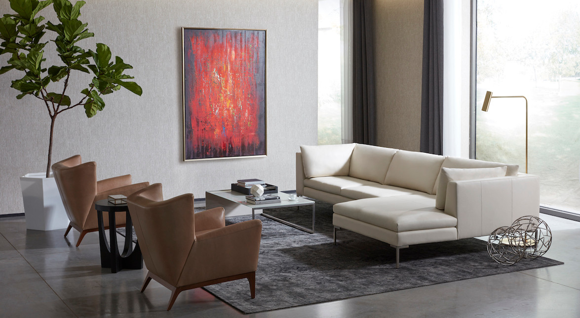 Inspiration Sectional & Cole Chairs from American Leather