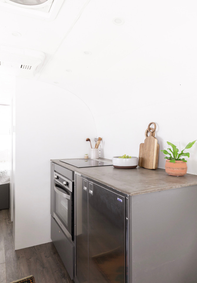 Concrete Countertops in an Airstream